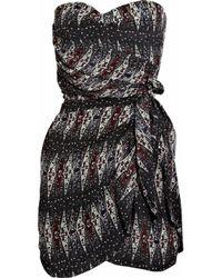 Étoile Isabel Marant | Black Anouk Strapless Printed Silk Dress | Lyst