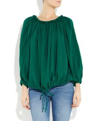Étoile Isabel Marant - Green Capone Oversized Cotton Smock Top - Lyst