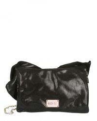 RED Valentino - Black Bow Leather Shoulder Bag - Lyst