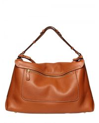 Sergio Rossi | Brown Viva Soft Grainyed Leather Shoulder Bag | Lyst