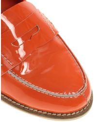 ASOS - Orange Asos Macabee Patent Leather Loafer - Lyst