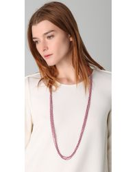 Chan Luu - Pink Cotton Seed Bead Necklace - Lyst
