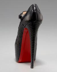 Christian Louboutin - Black Lady Daf Python Mary Jane - Lyst