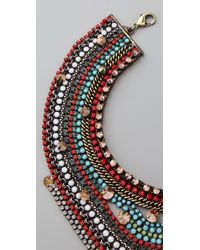 Iosselliani - Multicolor Crystal & Stone Collar Necklace - Lyst