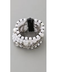 Juicy Couture - White Pearl & Resin Multi Strand Bracelet - Lyst