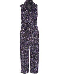 Marc By Marc Jacobs | Blue Arielle Printed Silk Jumpsuit | Lyst