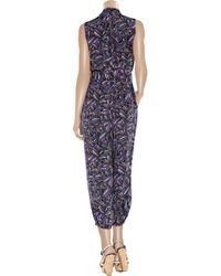 Marc By Marc Jacobs - Blue Arielle Printed Silk Jumpsuit - Lyst