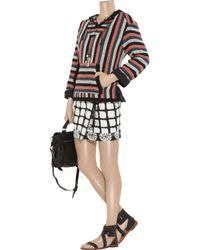 Proenza Schouler | Black Tie-dye Cotton Wrap Mini Skirt | Lyst