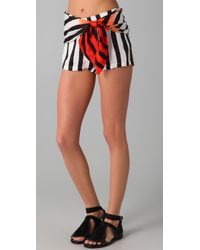 Sass & Bide | Black Two Futures Striped Shorts | Lyst