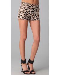 Tibi - Multicolor Cheetah On Cotton Stretch Sateen Short - Lyst