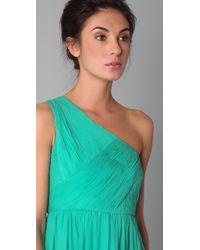 Tibi | Green One Shoulder Dress | Lyst