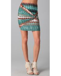 Torn By Ronny Kobo | Multicolor Twist Mini Skirt | Lyst