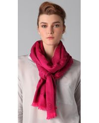 Tory Burch | Pink All Over T Scarf | Lyst