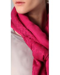 Tory Burch - Pink All Over T Scarf - Lyst