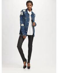 Acne | Blue Fever Torn Jacket | Lyst