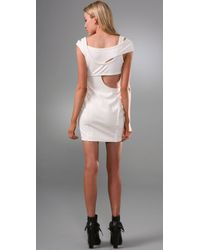 Alexander Wang - Natural Cutout Ponte Dress - Lyst