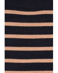 A.P.C. | Blue Striped Fine-knit Wool Sweater | Lyst