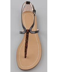 Boutique 9 | Brown Pauline Flat Thong Sandals | Lyst