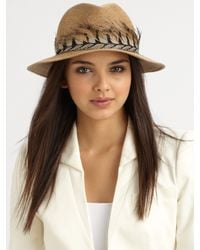 Eugenia Kim | Natural Kurt Pheasant Feather Accented Fedora | Lyst