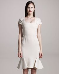 Roland Mouret   Natural Annabelle Crepe Dress, Cream   Lyst