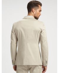Theory - Natural Kris Balance Twill Blazer for Men - Lyst