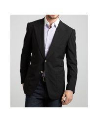 Tom Ford | Black Wool Peaked Lapel Two-button Blazer for Men | Lyst