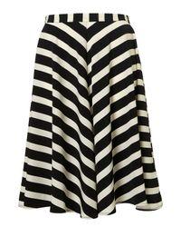 TOPSHOP | Black Stripe Full Circle Skirt | Lyst