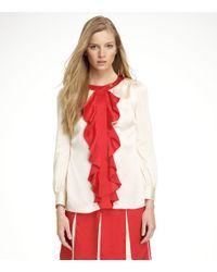 Tory Burch | Red Lea Blouse | Lyst