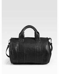 Alexander Wang | Black Rocco Lambskin Top Handle Bag | Lyst