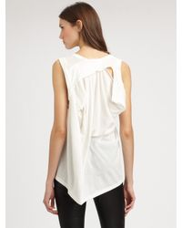 Ann Demeulemeester - White Cotton Top - Lyst
