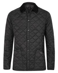 Barbour | Black Heritage Fit Liddesdale Jacket for Men | Lyst
