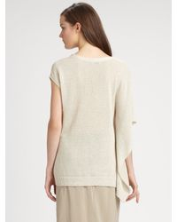 Brunello Cucinelli | Natural Silk Maxi Skirt | Lyst