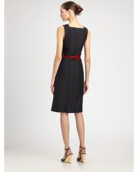 Carolina Herrera - Black Colorblock Dress - Lyst