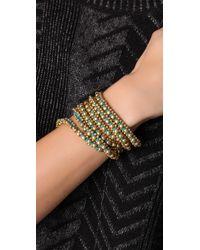 Chan Luu - Blue Brass Nugget Cord Necklace / Bracelet - Lyst