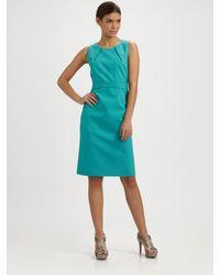 Elie Tahari - Blue Marina Sheath Dress - Lyst