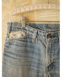 Free People | Blue Vintage Levis Patched Jeans | Lyst