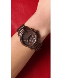 Michael Kors - Brown Runway Chronograph Watch - Lyst