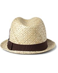 Paul Smith - Natural Embellished Straw Trilby Hat for Men - Lyst