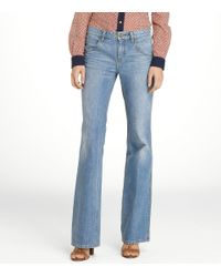 Tory Burch - Blue Leigh Flare Jean - Lyst