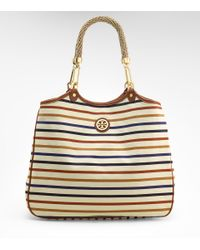 Tory Burch   Multicolor Striped Channing Tote   Lyst