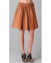 Acne Studios | Brown Romantic Leather Skirt | Lyst