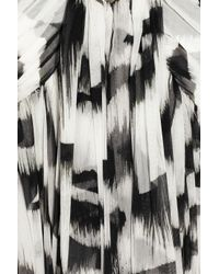 Alexander McQueen | Black White Tiger Printed Silk-chiffon Gown | Lyst