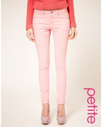 ASOS Collection - Asos Petite Pale Pink Skinny Jeans - Lyst