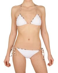 Burberry Brit | White 2 Pieces Lycra Bathing Suit | Lyst