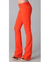 DSquared² - Orange Boot Cut Jeans - Lyst