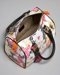 Fendi - Multicolor Floral Zucca Bowler Bag - Lyst