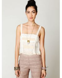 Free People | White Secret Garden Lace Tank | Lyst