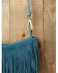 Free People | Blue Cheyenne Suede Crossbody | Lyst