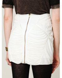 Free People - White Fp New Romantics Pieced Eyelet Mini Skirt - Lyst