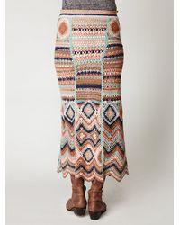 Free People - Multicolor Jezebelle Maxi Skirt - Lyst
